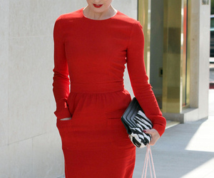 dress, outfit, and red image