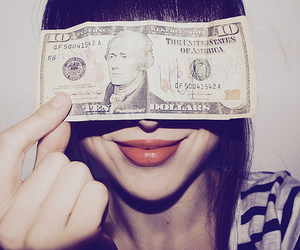 girl, money, and nice lips image