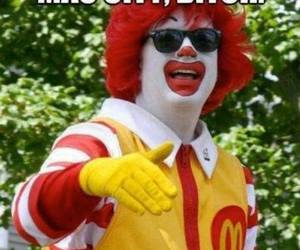 funny, McDonalds, and bitch image