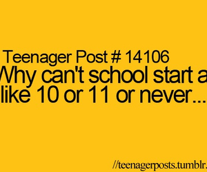 school, never, and teenager post image