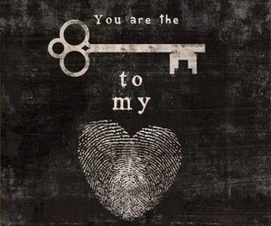 heart, key, and valentines image