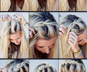 blonde, tumblr, and braid image