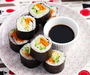 fish, food, and rice image