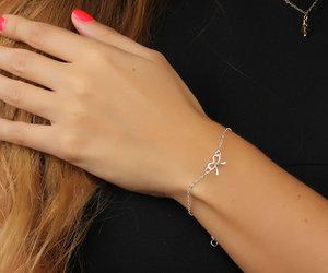 charm bracelet, bridesmaid bracelet, and best friend bracelet image