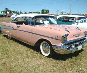 1957, bel air, and car image