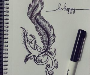 drawing, think, and love image