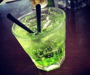 drink and green image
