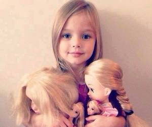 girl, barbie, and baby image
