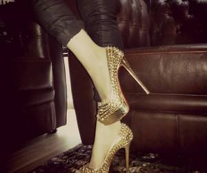 expensive, high heels, and spikes image
