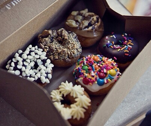 delicious, food, and donuts image