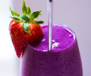 strawberry, purple, and smoothie image