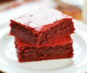 brownies, food, and red velvet image