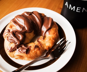 chocolate, sweet, and croissant image