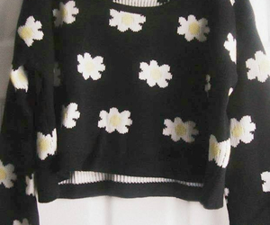 flowers, fashion, and sweater image