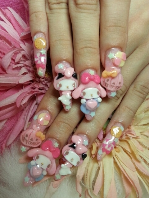 64 images about Kawaii/3D Nail Art!!🎀(^w^) on We Heart It | See ...