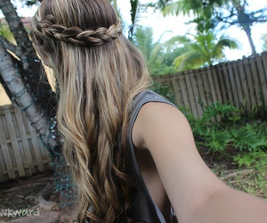 hair, braid, and tumblr image
