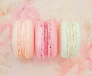 macaroons, food, and pink image