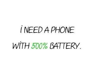 phone, battery, and true image