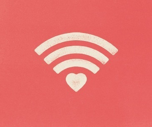 love, wifi, and heart image