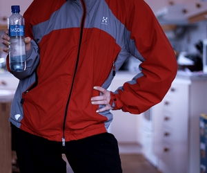 jacket, sporty, and red image