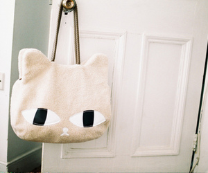 bag, cute, and cat image