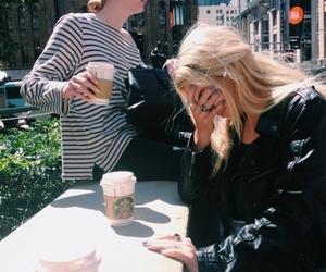 girl, starbucks, and coffee image