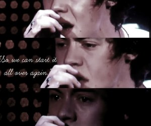 one direction, Harry Styles, and tears image