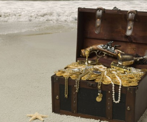 gold, pirates, and treasure image
