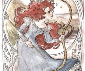 bow, curls, and disney image