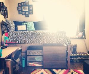 bedding, college, and dorm image
