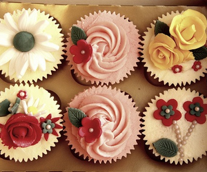 cakes, yay, and flowers image