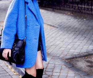 fashion, blue, and coat image