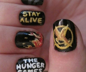 nails, stay alive, and fire image