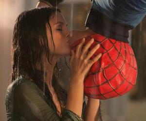 kiss, love, and spiderman image