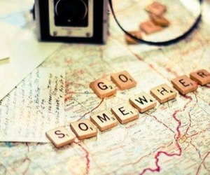 travel, map, and somewhere image