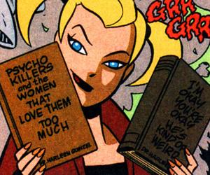 harley quinn, joker, and Psycho image