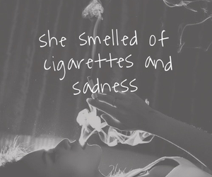 cigarette, sadness, and black and white image