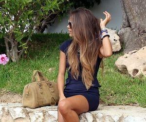 hair, summer, and dress image