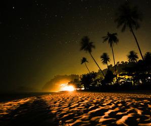 beach and night image