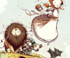 illustration and Wizard of oz image
