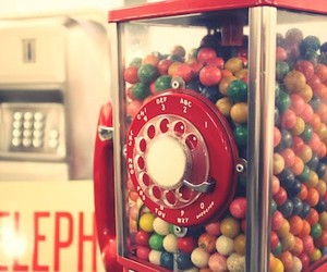 vintage, candy, and telephone image