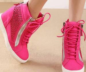 shoes, pink, and moda image