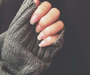 nails, sweater, and indie image