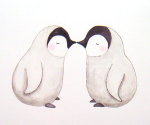 penguin, cute, and love image