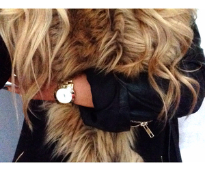 blonde, fur, and style image
