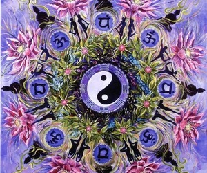 flowers and yingyang image