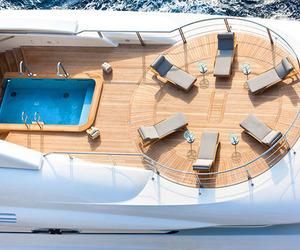 luxury, yacht, and pool image