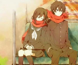 anime, couple, and kagerou project image