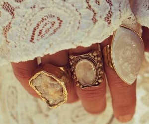 rings, lace, and white image