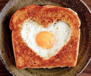 breakfast, eggs, and Valentine's Day image
